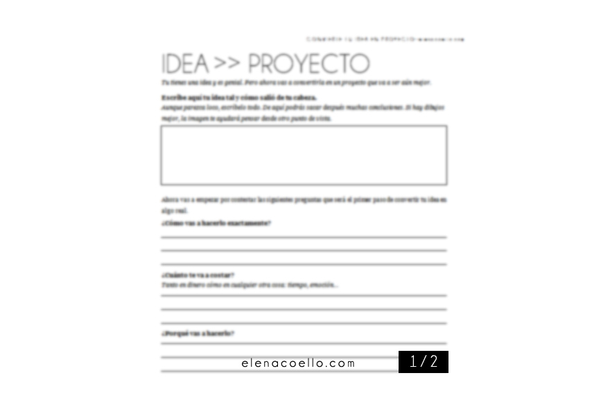 IDEA EN PROYECTO